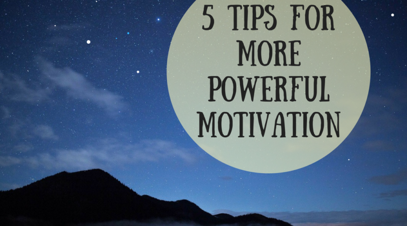 5 tips for more motivation